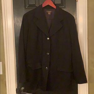 J. Crew black wool jacket 12
